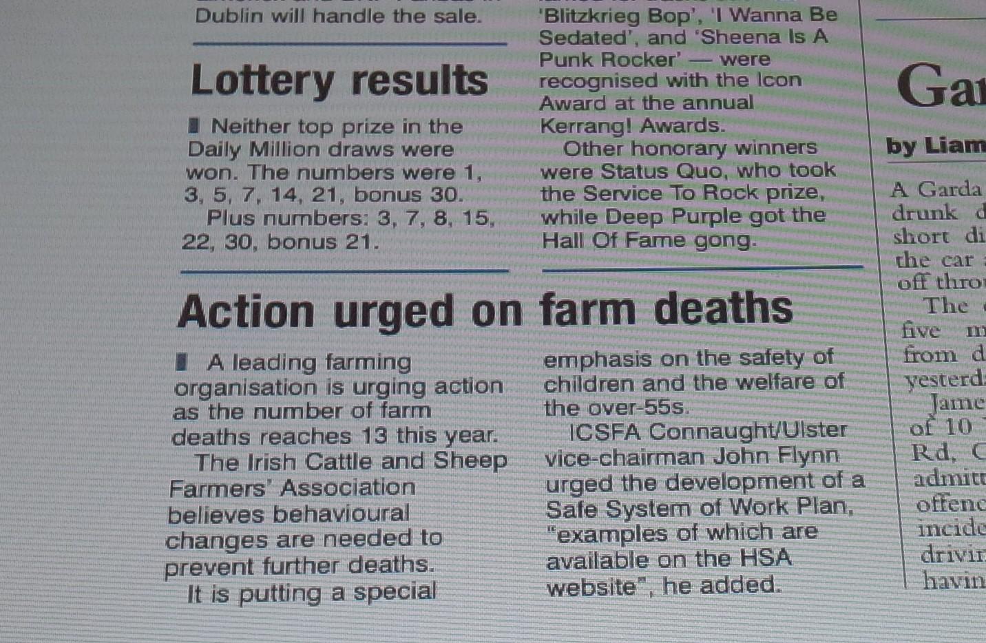 Media: Irish Examiner 13th June 2014