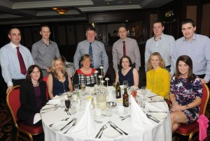 At the ICSA annual dinner dance in the Mount Errigal Hotel, Letterkenny on Friday night were from left, Darren and Nora Laird, Raphoe, Keith and Mariam Thompson, Convoy, Ena and Bert McGonagle, Convoy, Cynthia and John Eaton, Manor, Laura and CLive McGonagle, Glenmaquinn, Judith Kane and James McKnight, Glenmaquinn.