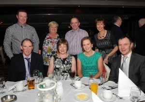 At the ICSA annual dinner dance in the Mount Errigal Hotel, Letterkenny on Friday night were seated from left, Sam and Margaret Floyd, Sharon and Kenneth Speer with at back, Lesley and Sandra Speer and David and June Love, from Ramelton.