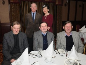At the ICSA annual dinner dance in the Mount Errigal Hotel, Letterkenny on Friday night were at back Bert and Marie Anderson, Milford with at front, with Tommy Smith, Lexie Duncan and David Smith, Manor at front.