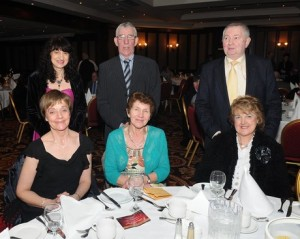 At the ICSA annual dinner dance in the Mount Errigal Hotel, Letterkenny on Friday night were Heather Stevenson, Killygorgan, Janette Stevenson and Masie Tinney with back Sharon White, Killygordan, Tyan Stevenson, Killygordan and Ian Tinney, St. Johnston.