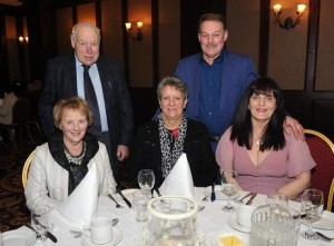 At the ICSA annual dinner dance in the Mount Errigal Hotel, Letterkenny on Friday night were Elvin and Marion Thompson, Lifford, Linda McConnell, Raphoe. Robert Russell and Angele Kelly, Raphoe.