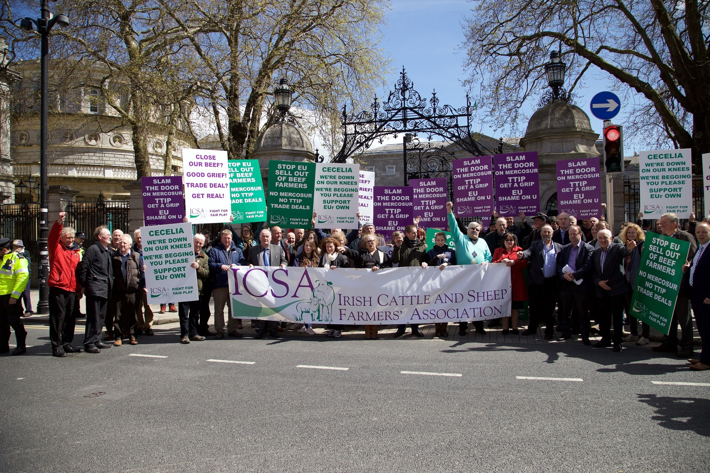 ICSA to protest today against Mercosur and TTIP trade deals