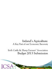 Ireland's Agriculture: A Key Part Of Our Economic Recovery – ICSA Budget 2013 Submission