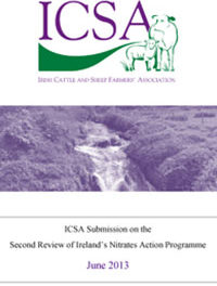 ICSA Submission On The Second Review Of The Nitrates Action Programme